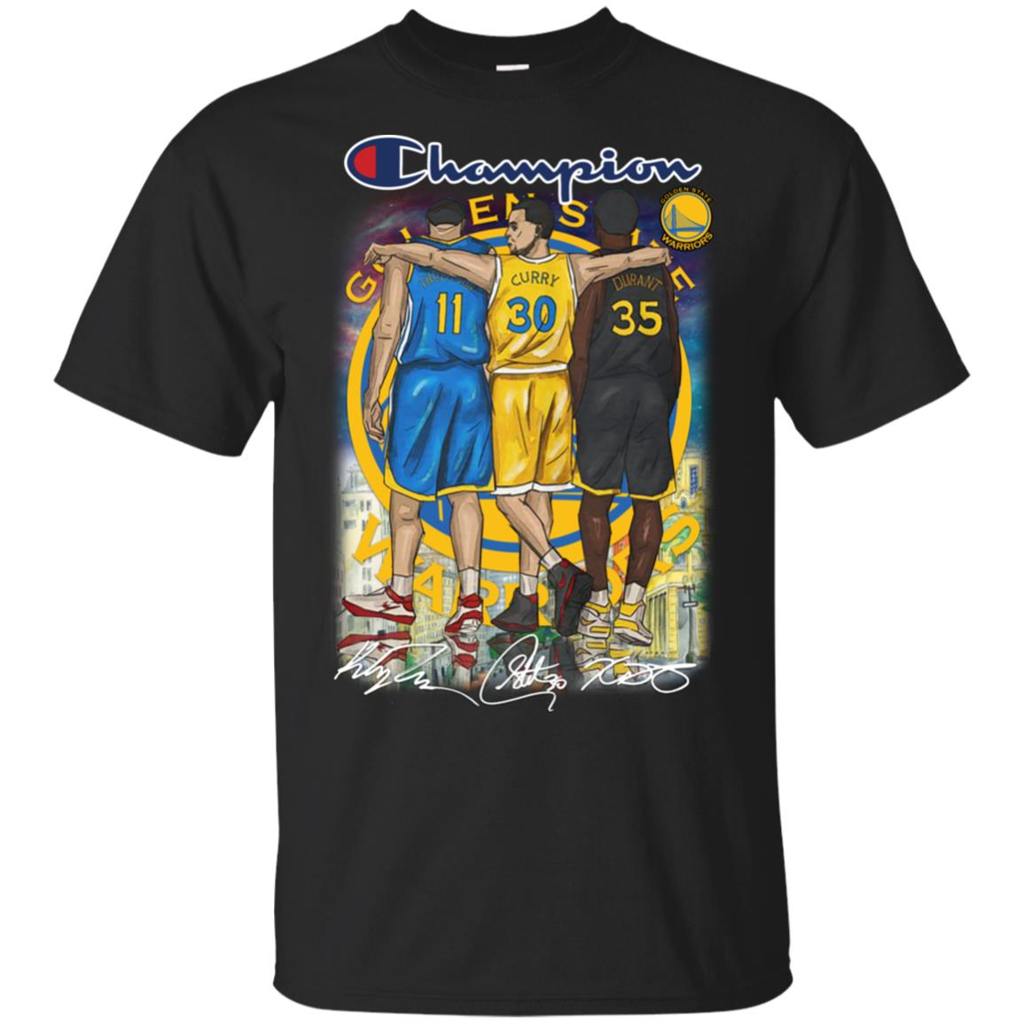 buy popular 8a833 ac7d0 Champion Golden State Stephen Curry Klay Thompson Kevin Durant shirt