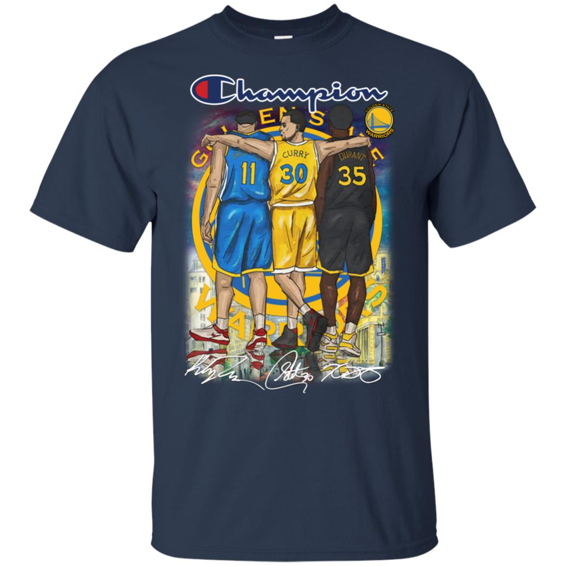 buy popular 26f40 f3726 Champion Golden State Stephen Curry Klay Thompson Kevin Durant shirt