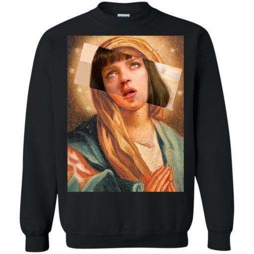 Pulp Fiction Virgin Mary Mia Wallace shirt