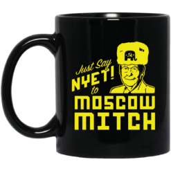 Just say Nyet to Moscow Mitch black coffee mug