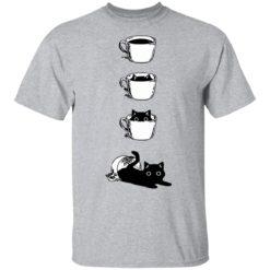 Black cat Coffee Cat shirt