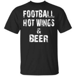 Football hot wings and beer shirt