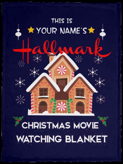 Custom name Hallmark Christmas movie watching blanket