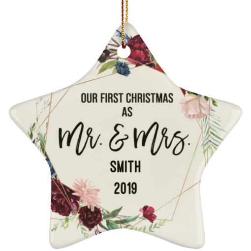 Personalized Our First Christmas Married Ornament