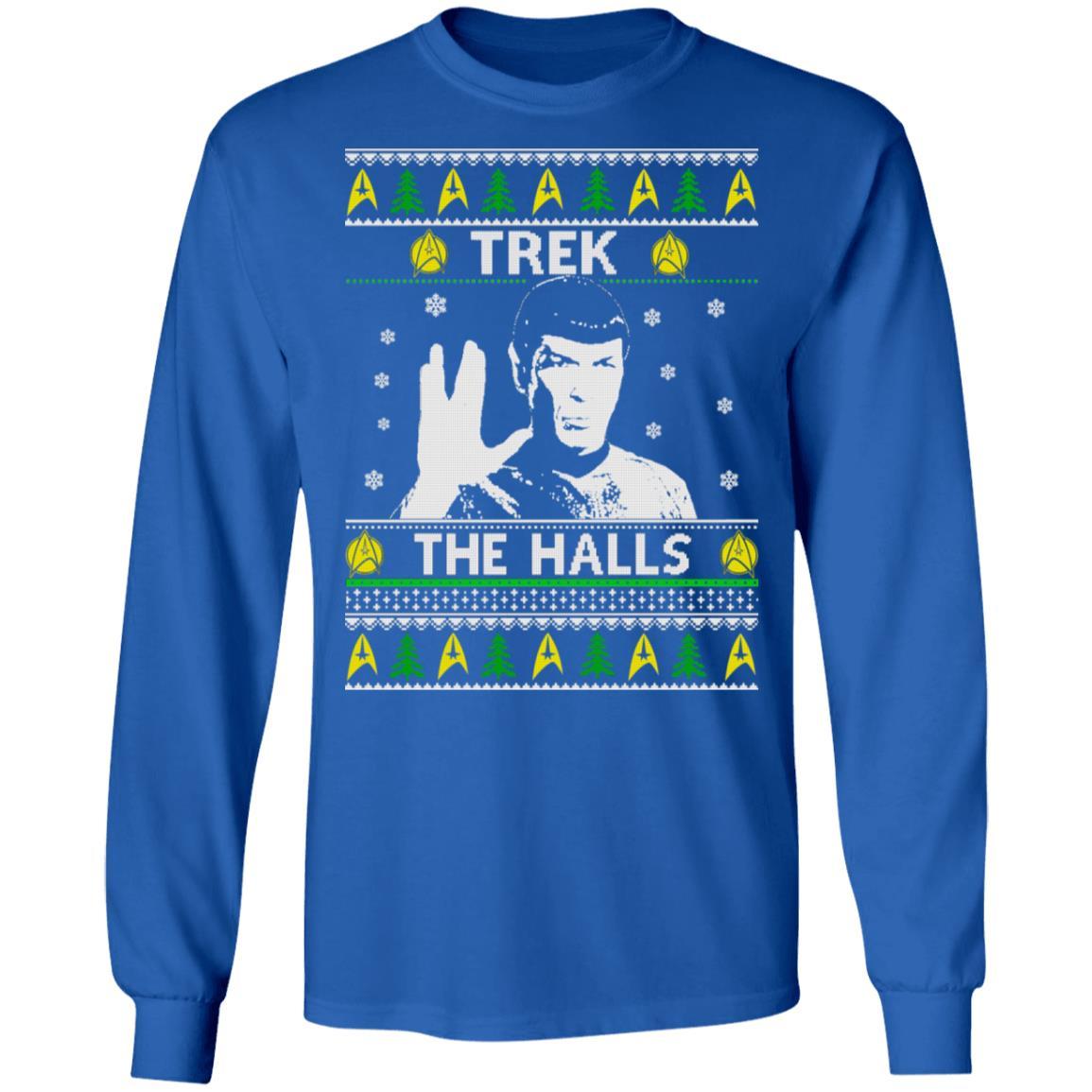 Star Trek Trek The Halls Christmas sweater, long sleeve, t shirt, hoodie