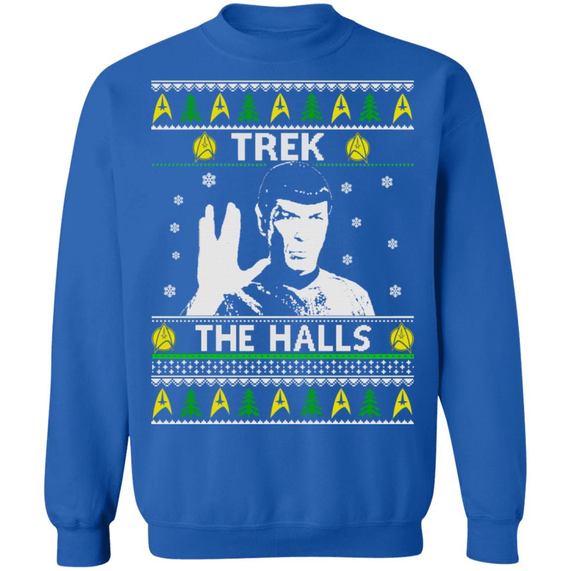 Star Trek Trek The Halls Christmas Sweater Long Sleeve T