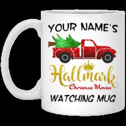 Custom name Hallmark movies watching mug