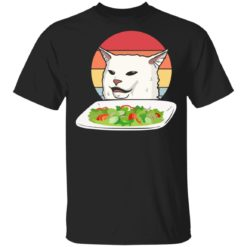 Cat Meme Woman Yelling at Cat Vintage shirt