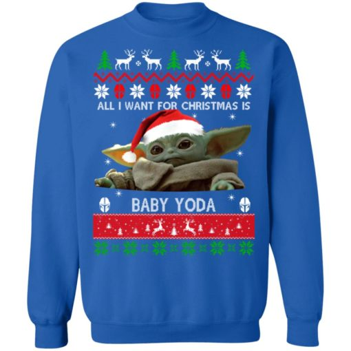 All I want for Christmas is Baby Yoda sweater