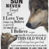 Wolf To my Son Never forget that I love you blanket