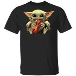 Baby Yoda hug Violin shirt