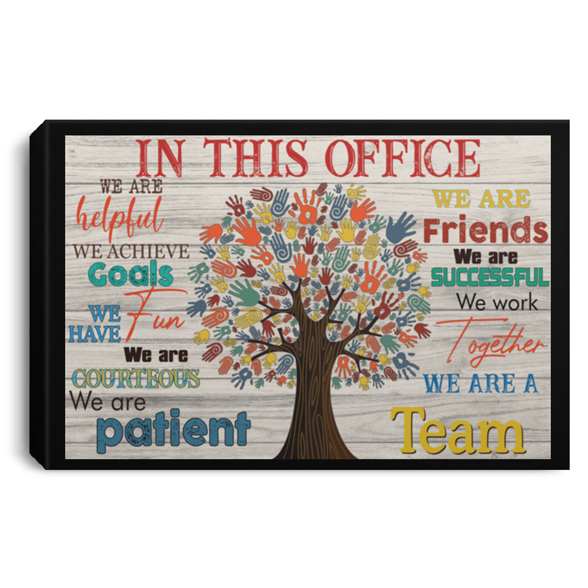 In this Office Poster, canvas