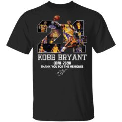 Kobe Bryant 1978-2020 thank you for the memories shirt
