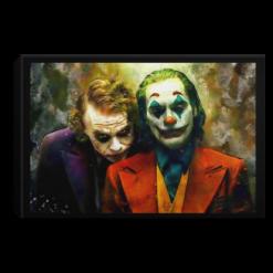 Heath Ledger and Joaquin Phoenix Joker poster, canvas