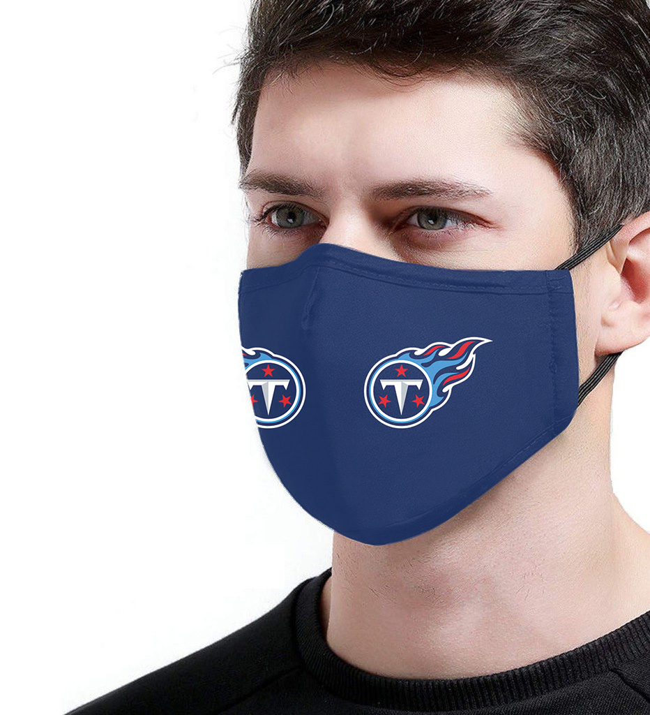 Tennessee Titan Face Mask Filter Antibacterial