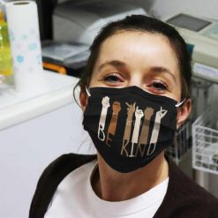 Hand Sign Language Be Kind face mask