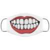 Red lips smile big teeth face mask Washable, Reusable