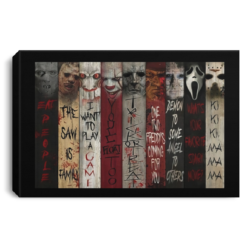 Horror movie character quotes poster, wall art