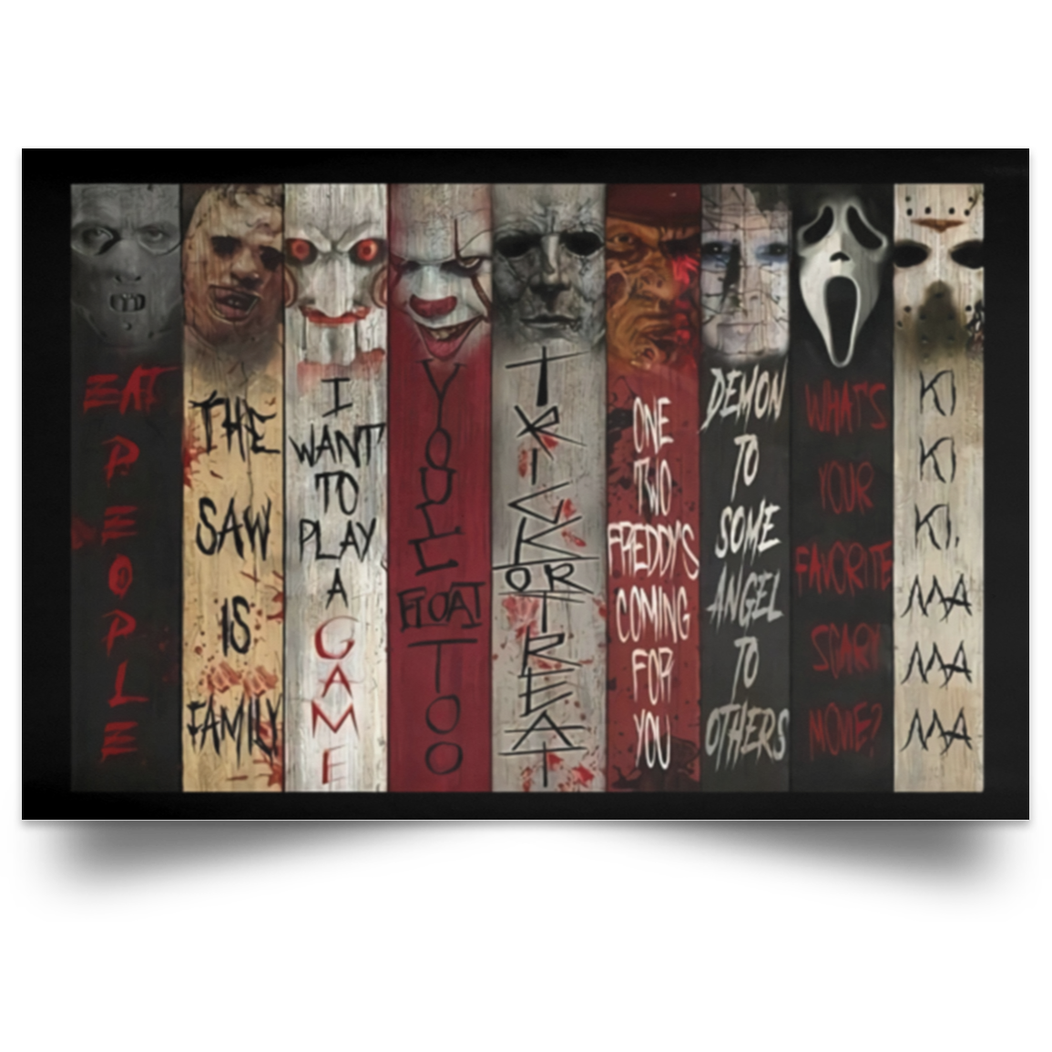 Horror Movie Character Quotes Poster Wall Art Bucktee Com