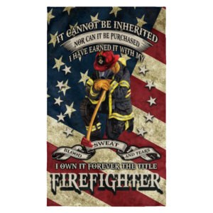 It cannot be inherited nor can it be purchased firefighter flag