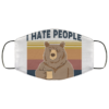 Bear Coffee I hate people face mask
