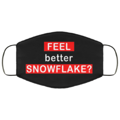 Feel better snowflake face mask washable