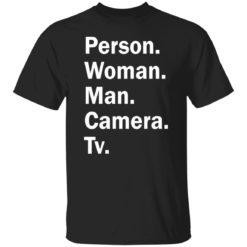 Trump person woman man camera tv shirt