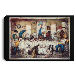 The last supper evil Rick and Morty Beavis Butthead South Park poster, canvas