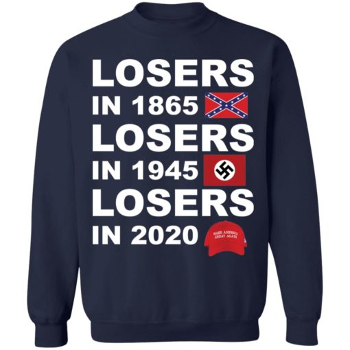 Losers in 1865 losers in 1945 losers in 2020 shirt